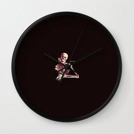 Skeleton Waiting Wall Clock