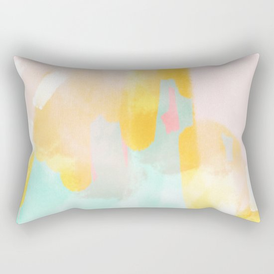 Soft Pastel summer abstract Rectangular Pillow