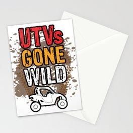 UTVs Gone Wild Trucks ATVs Quads Riding Mudding 4 Wheeler Stationery Cards
