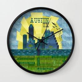 I love Austin, TX Wall Clock