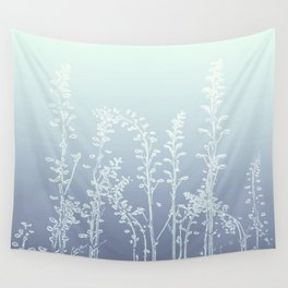 WILDFLOWERS BLUE AND PURPLE Wall Tapestry