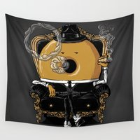 gangster Wall Tapestries featuring Gangster Donut by Javier Ramos