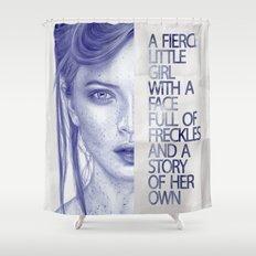 Fierce little girl Shower Curtain