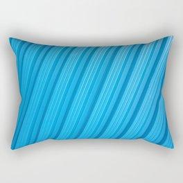 Stripes II - Blue Rectangular Pillow