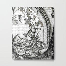 Lovers in the ruins Metal Print
