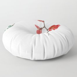 As They Blossom Cherry Blossoms (Color) Floor Pillow