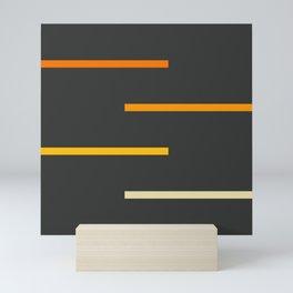 Abstract Minimal Retro Stripes Ashtanga Mini Art Print