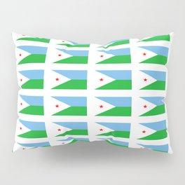 flag of Djibouti -djiboutian,Jabuuti,Gabuuti,Djiboutien,punt,aksum,aden Pillow Sham