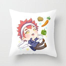 Food Wars Yukihira  Chibi Throw Pillow