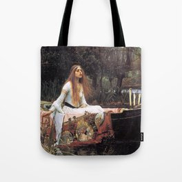 The lady of shalott painting  Tote Bag