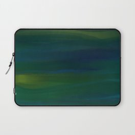 Navy, Peacock Green Abstract Laptop Sleeve