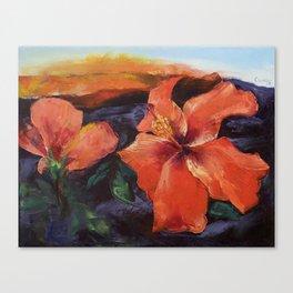 Hibiscus Volcano Canvas Print
