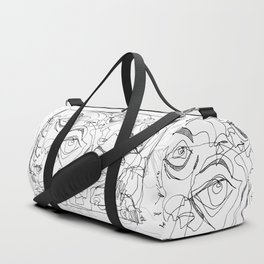 All Eyes on Me - b&w Duffle Bag