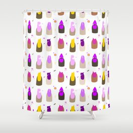 It Be Ya Own Nails (White) Shower Curtain