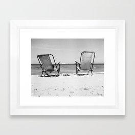 Beach Life - Gone Swimming Framed Art Print