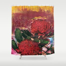 Waratah Dreaming Shower Curtain