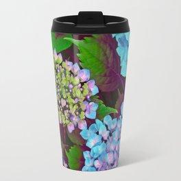 Hydrangea Pink and Blue Travel Mug