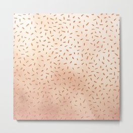 Rose Gold Party Metal Print