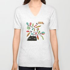 FLOWERING THOUGHT Unisex V-Neck