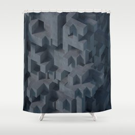 Concrete Abstract Shower Curtain