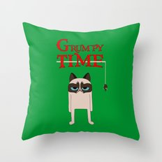Grumpy time (grumpy cat) Throw Pillow