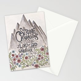 Be Strong and Courageous Stationery Cards