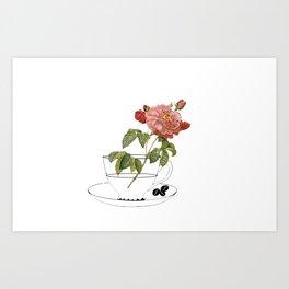 botanical coffee Art Print
