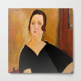 "Amedeo Modigliani ""Madame Amédée"" Metal Print"