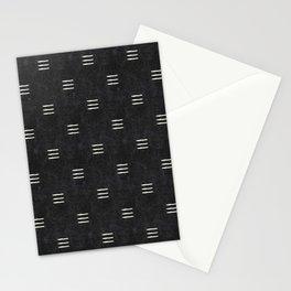 triple dash - onyx Stationery Cards
