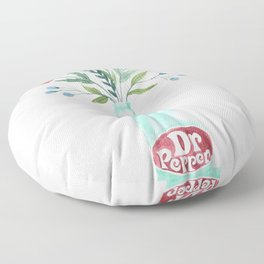 Dr Pepper bouquet Floor Pillow