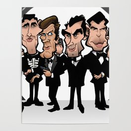Faces of Bond Poster