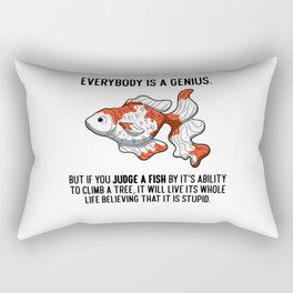 Everybody Is A Genius Quote Physicist Goldfish Rectangular Pillow