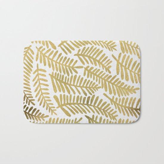 Gold Fronds Bath Mat
