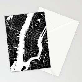 New York City Black On White Stationery Cards