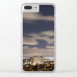 City Lights. Clear iPhone Case