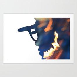 Fire Girl Art Print