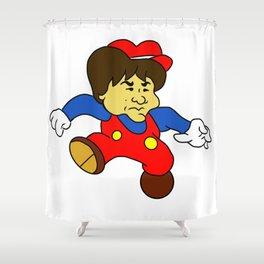 Jump Man Shigeru Miyamoto Shower Curtain
