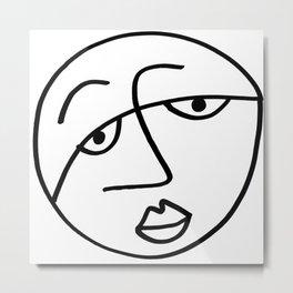 Sad Man's Face Metal Print