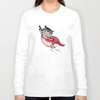 superhero Long Sleeve T-shirts featuring Superhero by Aleksandra Jevtovic