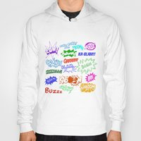 comic Hoodies featuring Comic Phrases by ErikMcManusInc.
