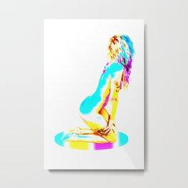On your knees  Metal Print