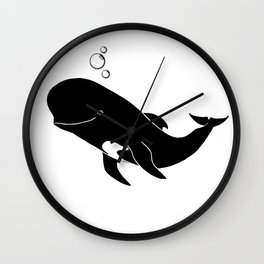 Short-finned pilot whale Wall Clock