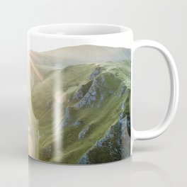 Winnats Pass, Peak District, England, UK - Aerial Photography Coffee Mug