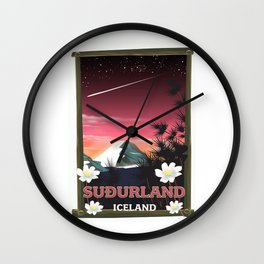 Suðurland Iceland Wall Clock