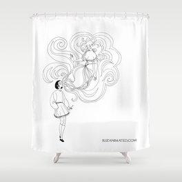 Cigarette Genie Shower Curtain