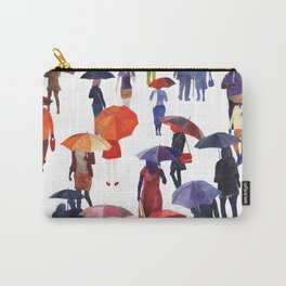 People with umbrellas Carry-All Pouch