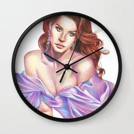 Lana in the Lilac Dress Wall Clock