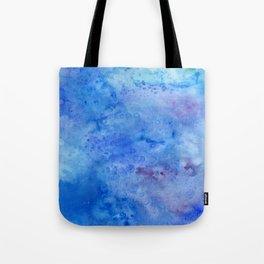 Mariana Trench Watercolor Texture Tote Bag