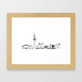Toronto skyline in one draw Framed Art Print