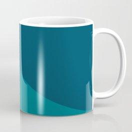 Moderna Bold Wave - Minimalism in Blue, Teal, and Orange Coffee Mug